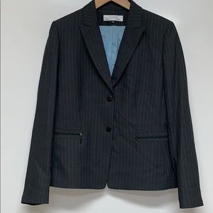 TAHARI x ARTHUR LEVINE Pin Stripe Suit Grey Jacket